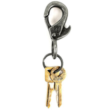 Load image into Gallery viewer, Brixton Gunner antique nickel key clip