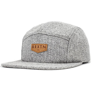 Brixton Haft heather grey 5 panel cap