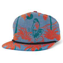 Load image into Gallery viewer, Brixton Henshaw luau blue snapback cap