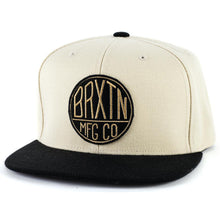 Load image into Gallery viewer, Brixton Oath 2 cream/black snapback cap