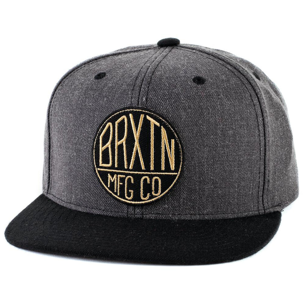 Brixton Oath 2 heather charcoal/black snapback cap