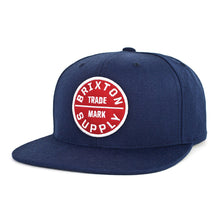 Load image into Gallery viewer, Brixton Oath III navy snapback cap