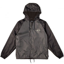 Load image into Gallery viewer, Brixton Cane charcoal/black windbreaker jacket