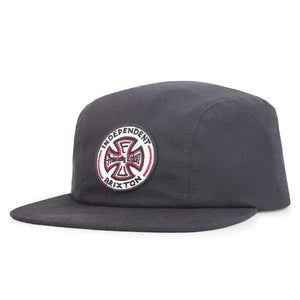 Brixton x Independent Truck Co. Crook washed black snapback cap