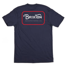Load image into Gallery viewer, Brixton Grade navy/red T shirt