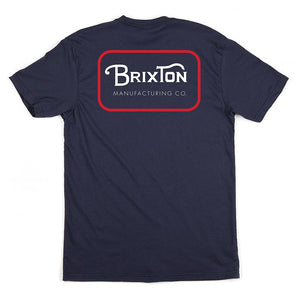 Brixton Grade navy/red T shirt