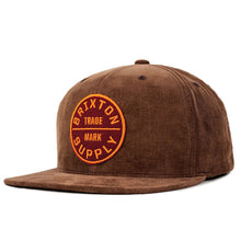 Load image into Gallery viewer, Brixton Oath III brown snapback cap