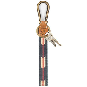 Brixton Richard black/cream key clip