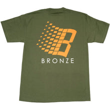Load image into Gallery viewer, Bronze B Logo T shirt military green/orange/white