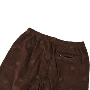 Bronze Embroidered Synch Cords brown