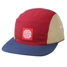 Load image into Gallery viewer, Butter Goods Tri-Tone maroon/night Camp 5 Panel Cap