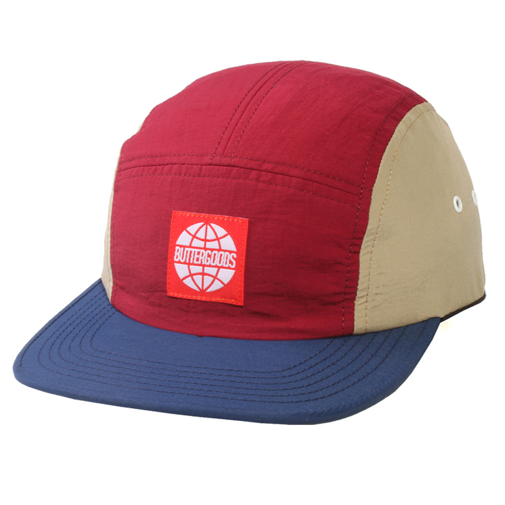 Butter Goods Tri-Tone maroon/night Camp 5 Panel Cap