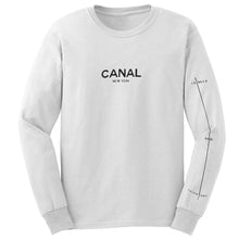 Load image into Gallery viewer, Canal Film Festival white long sleeve T shirt