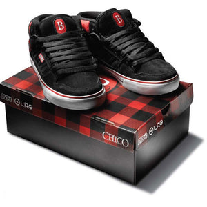 DVS Munition CT Mid black suede plaid LRG