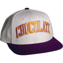 Load image into Gallery viewer, Chocolate By Starter gold/purple snapback cap