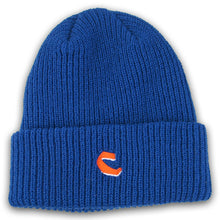 Load image into Gallery viewer, Chocolate C Fold royal blue beanie