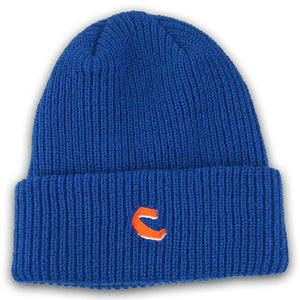 Chocolate C Fold royal blue beanie