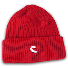 Load image into Gallery viewer, Chocolate C Fold red beanie