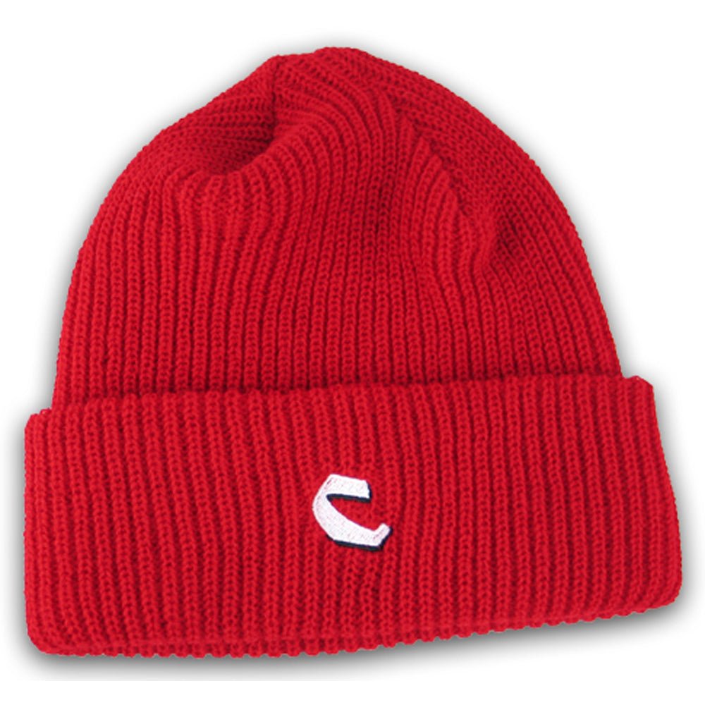 Chocolate C Fold red beanie