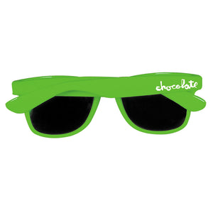 Chocolate Chunk Shades florescent green sunglasses