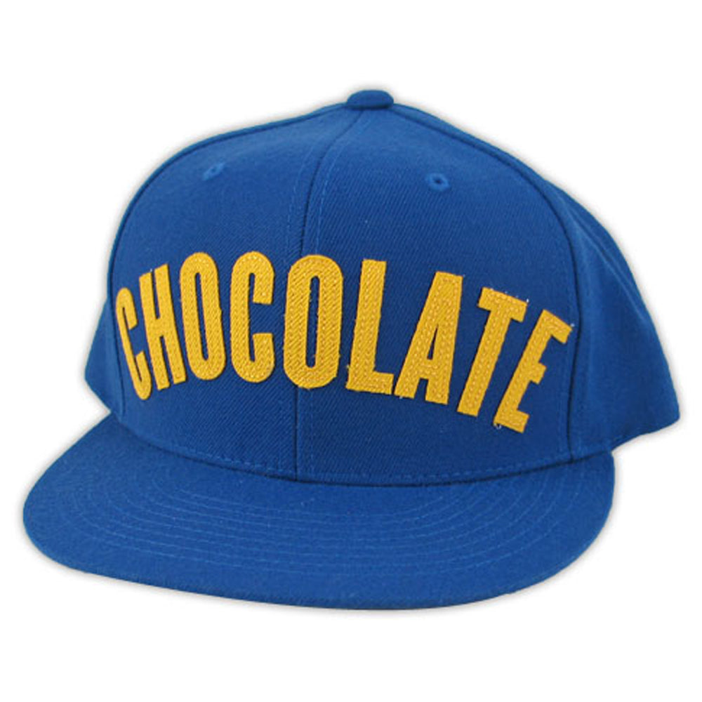 Chocolate League blue snapback cap