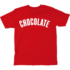 Chocolate League red T shirt