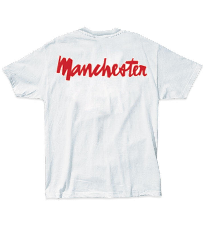 Chocolate Manchester Chunk Back white T shirt