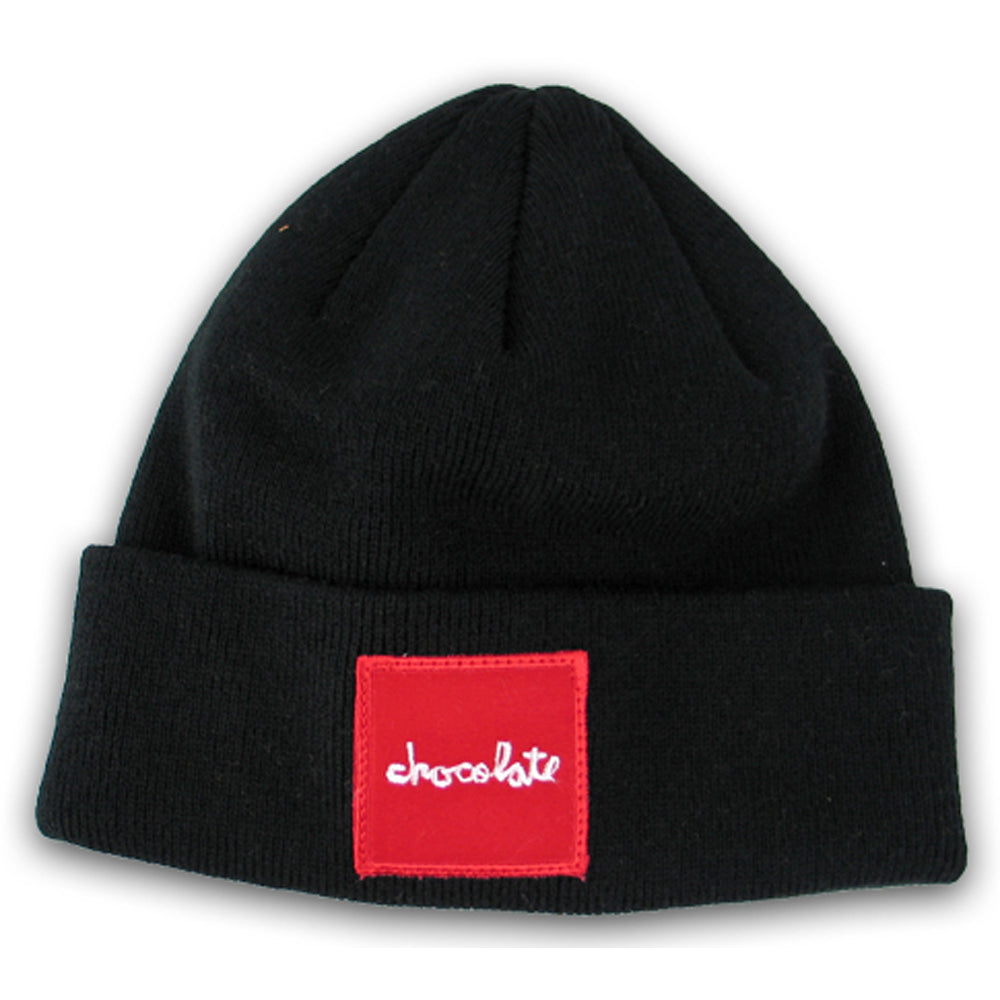 Chocolate Red Square black beanie