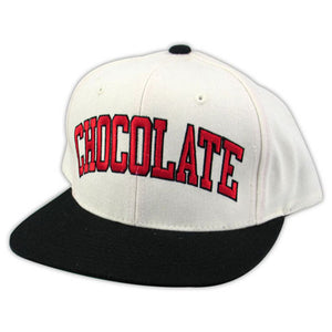 Chocolate By Starter white snapback cap