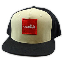 Load image into Gallery viewer, Chocolate Red Square tan snapback cap