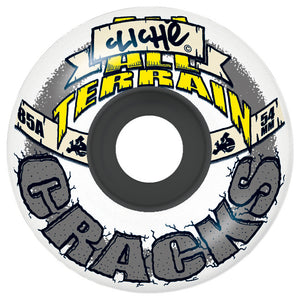 Cliche All Terrain Cracks white/grey 54mm wheels