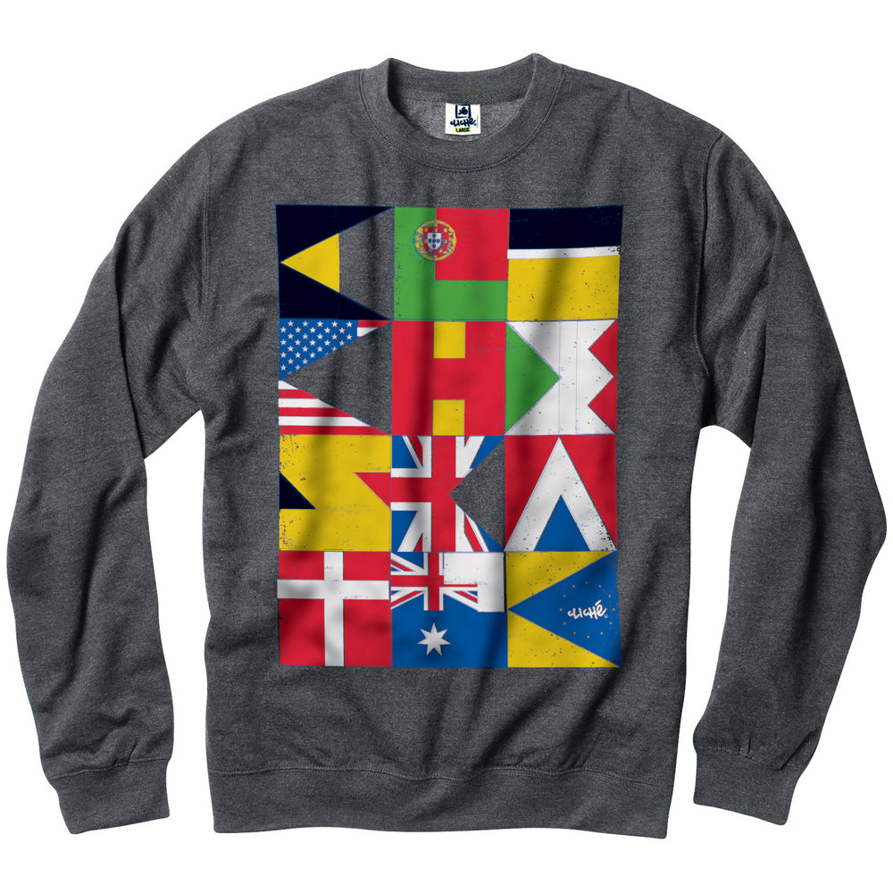 Cliche Flags charcoal heather crew