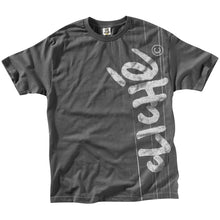Load image into Gallery viewer, Cliche Handwritten Laminated charcoal T shirt