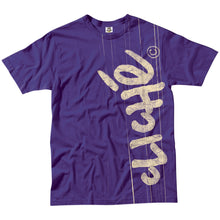 Load image into Gallery viewer, Cliche Handwritten Laminated purple T shirt