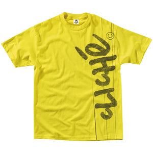 Cliche Handwritten Laminated yellow T shirt