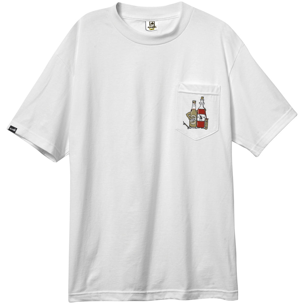 Cliche x DQM collaboration white pocket T shirt