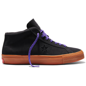 Converse Cons One Star Pro Leather Mid black/gum/grape