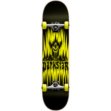 "Load image into Gallery viewer, Darkstar Spike yellow 7.5"" complete skateboard"