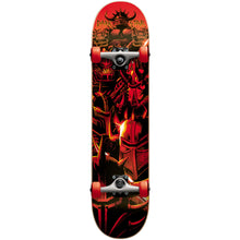 "Load image into Gallery viewer, Darkstar Warhead red micro size 6.75"" complete skateboard"