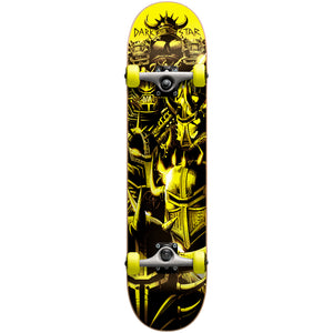 "Darkstar Warhead yellow full size 7.7"" complete skateboard"