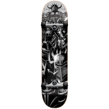 "Load image into Gallery viewer, Darkstar Warhead silver full size 7.5"" complete skateboard"