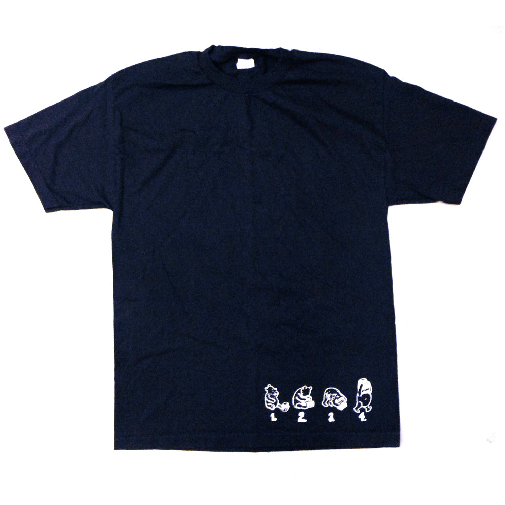 Dear Skating Rocco Pooh One Offs black T shirt