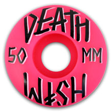 Load image into Gallery viewer, Deathwish Stacked Pink 5 pack 50mm wheels
