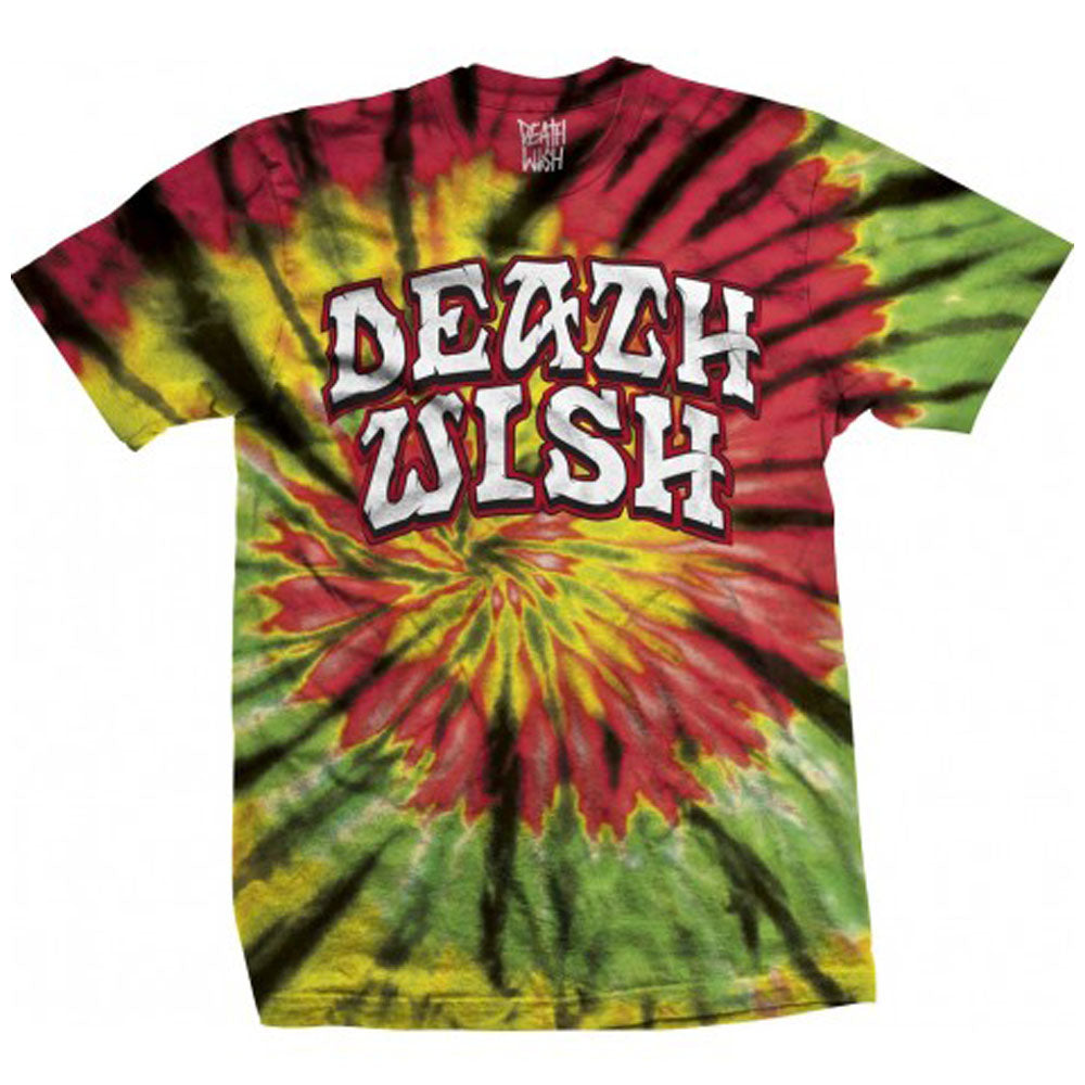 Deathwish Great Death Rasta spiral Tie dye T Shirt