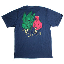 Load image into Gallery viewer, RIPNDIP The Devils Lettuce navy T shirt