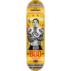DGK x Thrasher Johnson Blood Money deck 8.06""