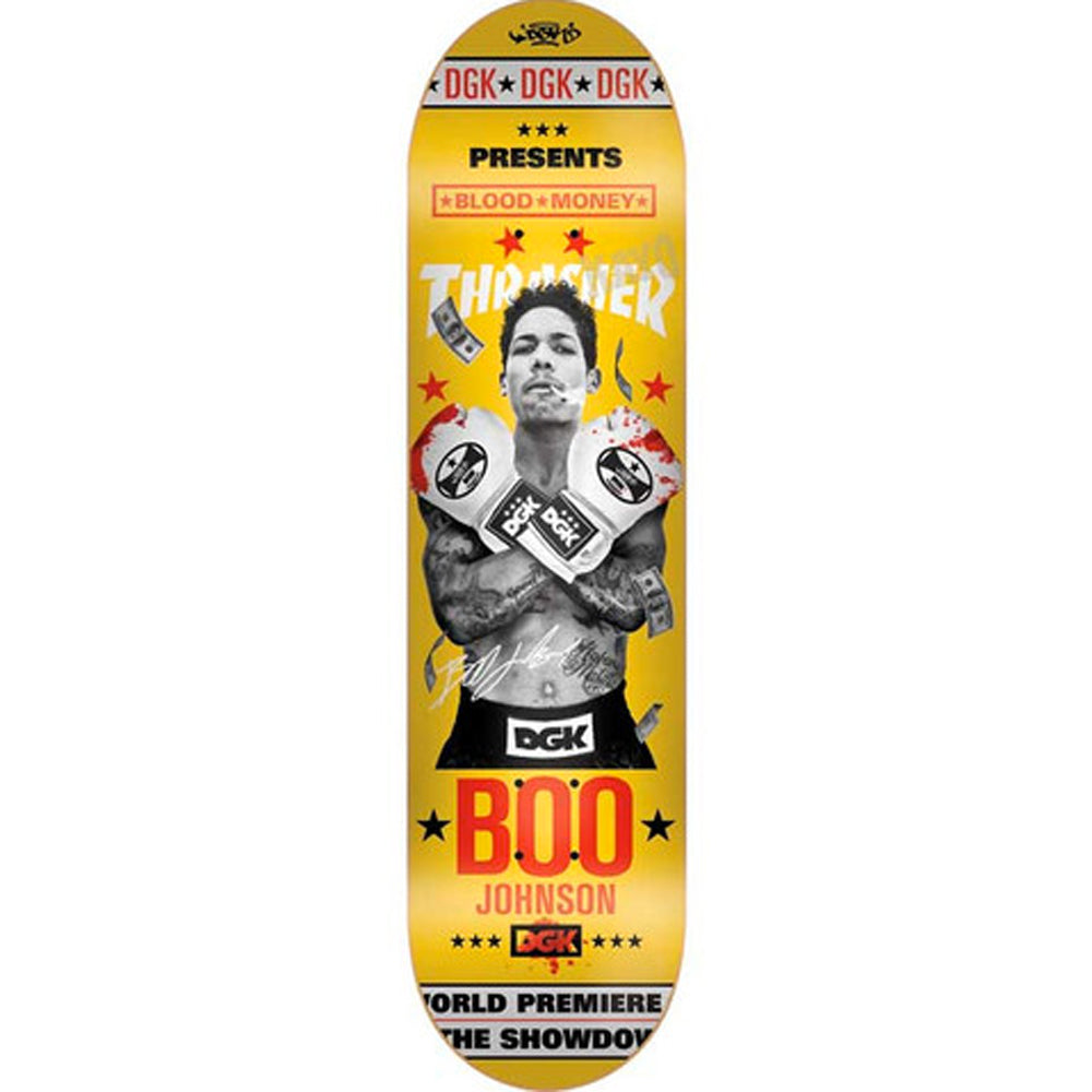 DGK x Thrasher Johnson Blood Money deck 8.06