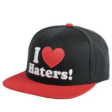 Load image into Gallery viewer, DGK Haters black/red snapback cap