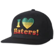 Load image into Gallery viewer, DGK Haters rasta/fade snapback cap