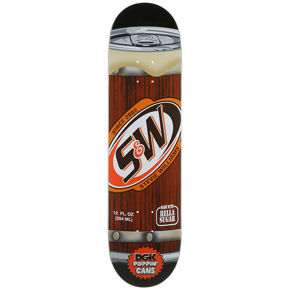 DGK Williams Poppin' Cans deck 8.1